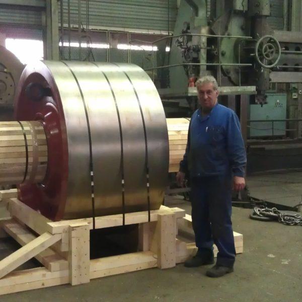 Sercem Industrie - pièce de rechange-galet de four de cimenterie